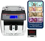 SToK New Rs.50, Rs.200, Rs.500 & Rs.2000 Notes Counting and detecting fake SToK ST-MC02 Cash / Bill / Currency/ Money / Note Counting Machine with Fake Note Detector & LCD Display with Beeping Function & Color Changing Display- 1 Year Warranty - Compatible with New Currency - 500 & 2000 denomination