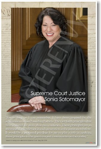 Supreme Court Justice - Sonia Sotomayor - Classroom Poster