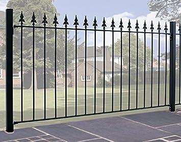 Valla de jardín de hierro forjado con puntas de lanza modelo GAELIC01, para cubrir un espacio de 1,83 x 0,95 m de alto.: Amazon.es: Bricolaje y herramientas