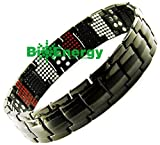 Anion Magnetic Energy Germanium Power Bracelet Health 4in1 Bio Armband Titanium 251