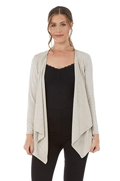 Roman OR1G1NALS BLACK Waterfall Front Jersey Cardigan Size 10 to 20