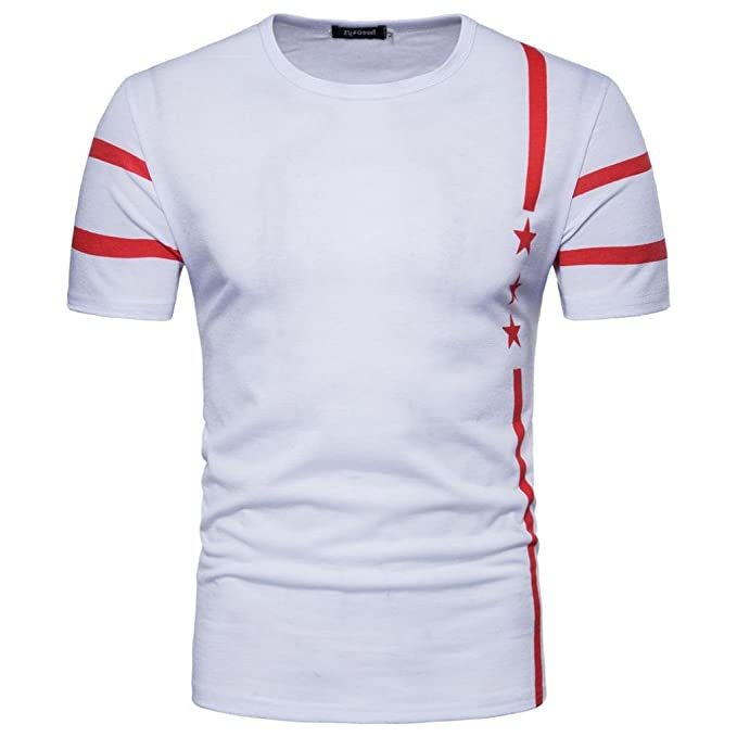 WINWINTOM Moda de Verano Camisetas, 2018 Camisetas y Polos De Hombre, Hombres Casual 17