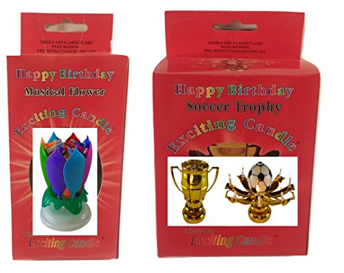 Birthday Candle Two Pack (Rainbow Soccer) by Birthday Candle