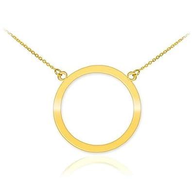 Amazon 14k yellow gold circle of life pendant karma necklace 14k yellow gold circle of life pendant karma necklace 16quot aloadofball Image collections