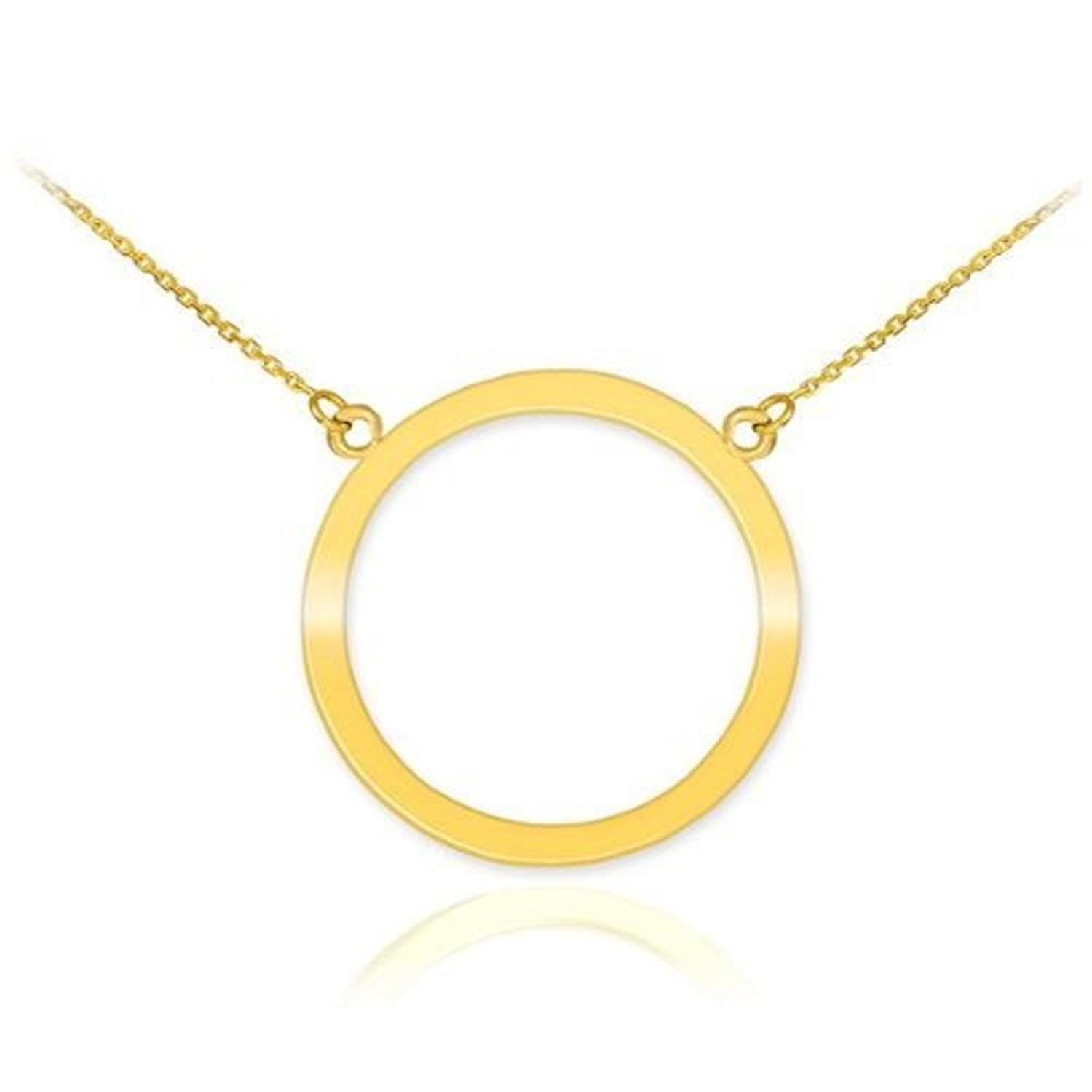 Amazon 14k yellow gold circle of life pendant karma necklace amazon 14k yellow gold circle of life pendant karma necklace 16 jewelry aloadofball Image collections