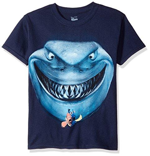 Disney Boys Big Boys Finding Nemo Shark Short Sleeve T-Shirt