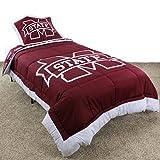 Mississippi State Bulldogs Reversible Comforter Set - Full