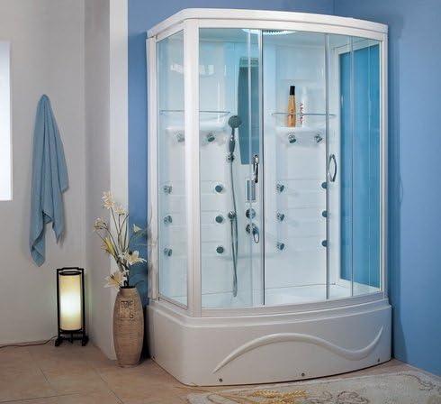 Cabina de ducha con hidromasaje Hammam Fuba Dual 140 x 93 x 220 (cristal transparente, antical de 6 mm: Amazon.es: Bricolaje y herramientas