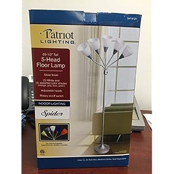 Studio 3b 5 Light Floor Lamp Silver
