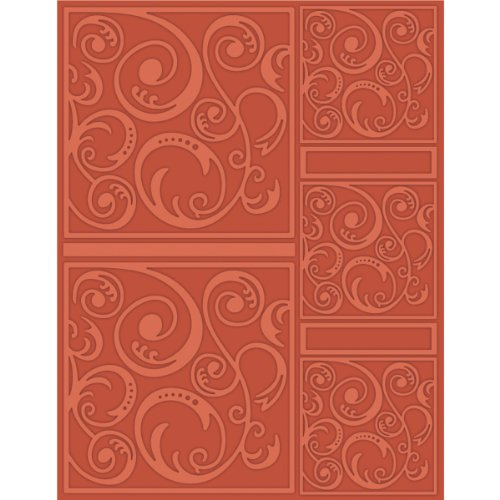 (Craftwell USA Swirl Tangle Embossing Folder, 8.5 by 11-Inch)