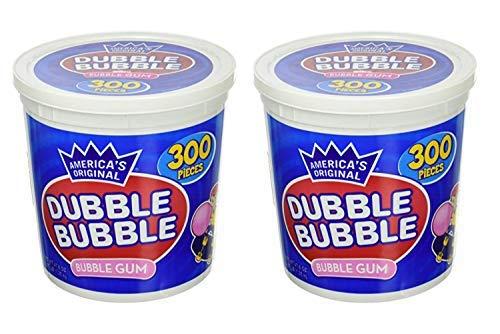 America's Original Dubble Bubble Bubble Gum 47.6 Ounce Value Tub 300 Individually Wrapped Pieces (2 Pack)