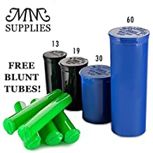Pop Top Containers Full Cases All Drams 13 Dram - Case of 315 (Black) Best Medical Marijuana Container 2 Grams. Squeezetops, Smell Proof, Medical Marijuana Supplies FREE BLUNT TUBES by MM SUPPLIES