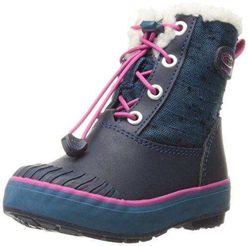 Keen Elsa ragazzi/ragazze stivali invernali, Blu inchiostro/Molto Berry (UK Child 7)