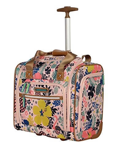 - Lily Bloom Under the Seat Design Pattern Carry on Bag With Wheels (One Size, Trop Pineapple)