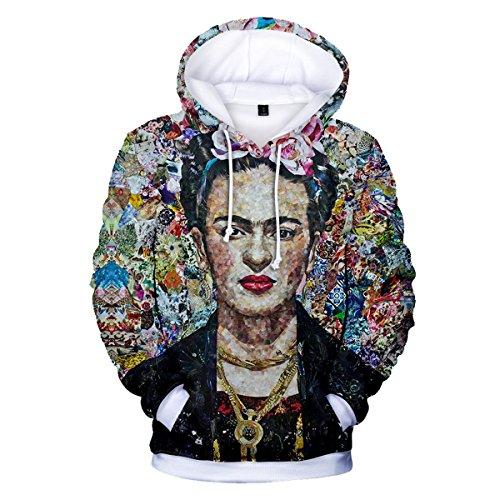 Kahlo 2018 3XL CTOOO Donna Felpe Uomo Stampa Sportive Cappuccio 3D Frida Unisex 03 con 2XS TCHYqxFwHU