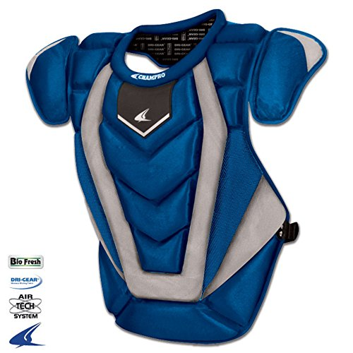 Champro CP81 Adult Pro Catchers Chest Protector 17.5 Inch Pro-Plus Chest Protector Adult - 175 Length Royal -