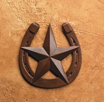 Amazon.com: Rustic Horseshoe with Barn Star Wall Decor: Home & Kitchen