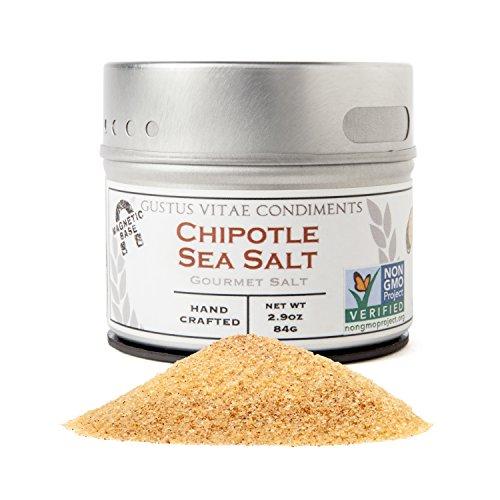 Chipotle Sea Salt | Non GMO Verified | Magnetic Tin | Small Batch Seasoning