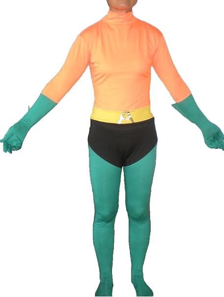 Aquaman erwachsenes Disfraz Licra Body Suit Spandex Hombre DC Aqua ...
