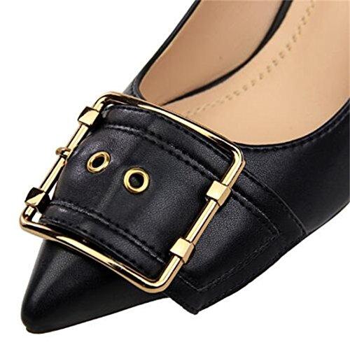 Talons Chaussures Soirée Femme Hauts Wuiwuiyu Escarpins Noir 6qw4Hwv