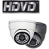 HDVD™ HDVD-TE2FK 1080P 2 Megapixel HD TVI CCTV Security Surveillance eyeball dome turret Camera WHITE COLOR 3.6mm Lens 24IR (upto 80ft)