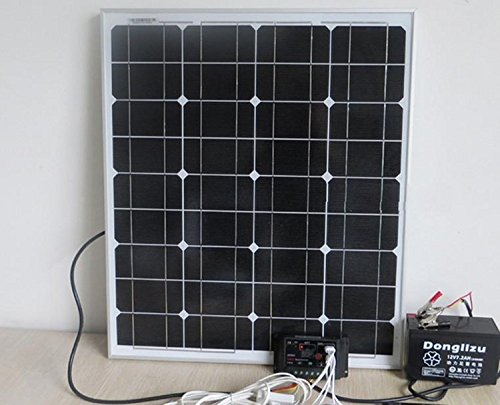 GOWE 50 solar power system, 12 V, DC-Eingang, 50 Watt solar-Set für Zuhause, 12 led-Lampen mit 5 V USB-multi connect Handy-Ladegerät