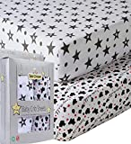 Baby Cribs for Sale Baby Crib Sheets - Certified Organic Jersey Cotton Sheets - Know Your Baby is Sleeping On A Pesticide Free, Hypoallergenic, Unbleached Sheet - Double Thick Elastic Band Reinforcement - AZO Dye Free