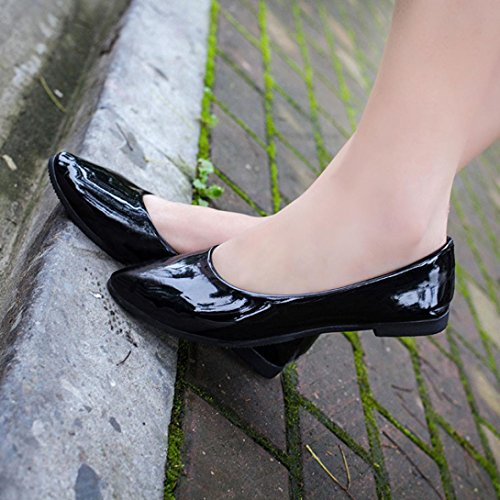 Ama (tm) Scarpe Da Donna A Punta Piatta Slip On Mocassini Soft Driving Walk Shoes Black