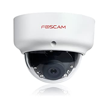 Foscam FI9961EP Vandal Proof Outdoor Full HD 1080P Security IP Dome Camera,  2 0 Megapixel, WDR 2 0, IP66 Weatherproof, 20m Night Vision IR, Motion