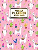 2019-2020 Weekly Planner: Nifty Cactus Llama Alpaca Pink Daily Weekly Monthly Organizer. Pretty Agenda Schedule with Inspirational Quotes, Notes, To-Do's and