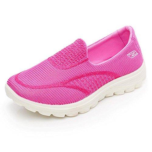 Las Verano la Las de del Casuales Casuales CAI Zapatos de Mujeres Zapatos Casuales Punto los de señoras Las señoras de de Ocasionales y Mujeres Primavera Deportes Rojo de 2018 de Las Zapatos Bajas C6x1fT6q