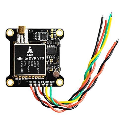 (AKK Infinite DVR VTX 25mW/200mW/600mW/1000mW MMCX Transmitter Support OSD Configuring Upgraded Long Range Version)