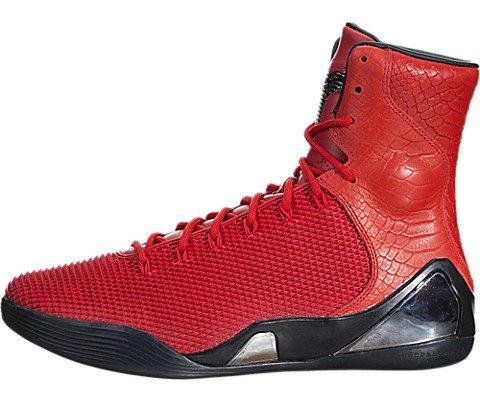 Nike Men's Kobe IX High Krm Ext Qs Challenge Red/Challenge Red Basketball Shoe 9 Men US