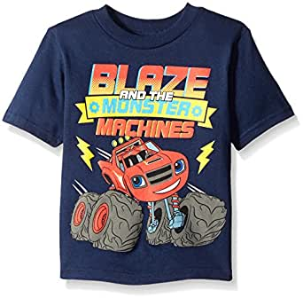 Blaze and The Monster Machines Little Boys' Toddler Short Sleeve T-Shirt, Navy, 2T