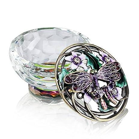 Amazoncom Purple Jeweled Dragonfly Jewelry Box Home Kitchen