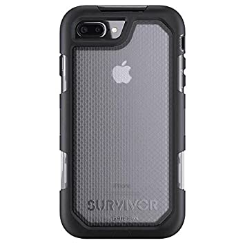 Griffin Survivor Extreme - Funda para Apple iPhone 8/7 Plus, Color Negro y Transparente