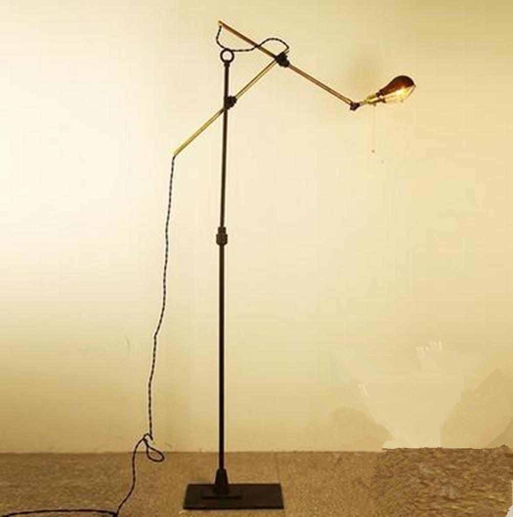 MULANG Amerikanischer Stil Indirektdorf Kreativ Verstellbar Lang Arm Eisen Stehlampe Lernender Lernen Bett Arbeitszimmer Schlafzimmer Lesen Lampe, Dekoration