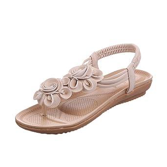 SUMMERY Damen Sandale, Weiß, 38 EU