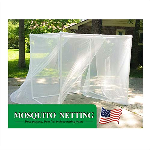 ourfun Large Mosquito Net Outdoors Indoors Greenhouse Square Bug Netting Canopy Curtains Home Bed Sleeping Camping Travel Plants Grow Repels Insects 80''x60'' Queen Size, White by ourfun