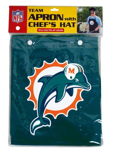 NFL Miami Dolphins Chef Hat and Apron Set by PSG INC