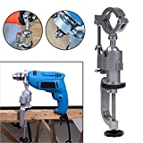 Dremel Rotary Tool Holder Dremel Grinder Stand Aluminum Miniature Small Clamp On Table Bench Vise Tool AccessoryElectricDrillHolder Light Weight Drill Soft Shaft Workbench Clamp & eBook