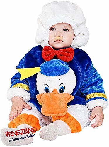 Italian Made Plush Baby Girls Boys Cartoon Duck Book Day Halloween Fancy Dress Costume Outfit (6-9 -