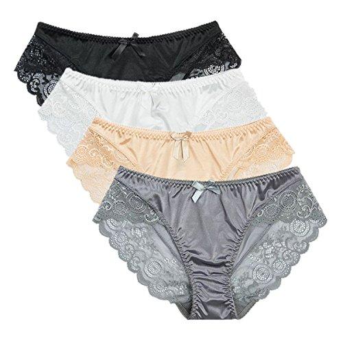f7cc335dba Jual Colorful Star 4 Pack Women s Sexy Satin Panties - Briefs ...
