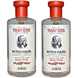 Thayers Alcohol-free Rose Petal Witch Hazel with Aloe Vera, 12 oz(Pack of 2)