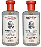 Thayers Alcohol-free Rose Petal Witch Hazel with Aloe Vera, Clear, 12oz Pack of 2