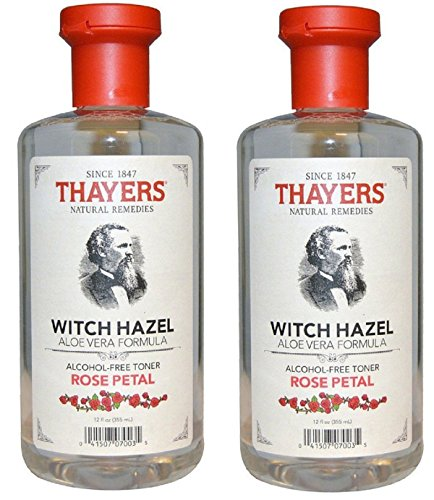 Hazel Witch Alcohol (Thayers Alcohol-free Rose Petal Witch Hazel with Aloe Vera, 12 oz (Pack of 2))