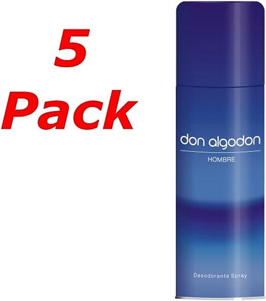 DON ALGODON Hombre Deo Spray 200ML. Pack de 5: Amazon.es: Belleza