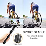 Selfie Stick Tripod, Foldable Gimbal Stabilizer with Bluetooth Wireless Remote, Extendable Cell Phone Tripod, 360° Rotation Portable Phone Holder Stand Compatible with iPhone Android Smartphone 7