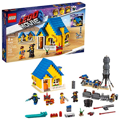 LEGO THE LEGO MOVIE 2 Emmet's Dream House/Rescue Rocket! 70831 Building Kit, Pretend Play Toy House for kids age 8+, 2019 (706 Pieces)
