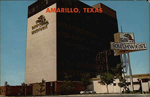 Bank Of The Southwest Building   Wolflin Village Amarillo  Texas Original Vintage Postcard